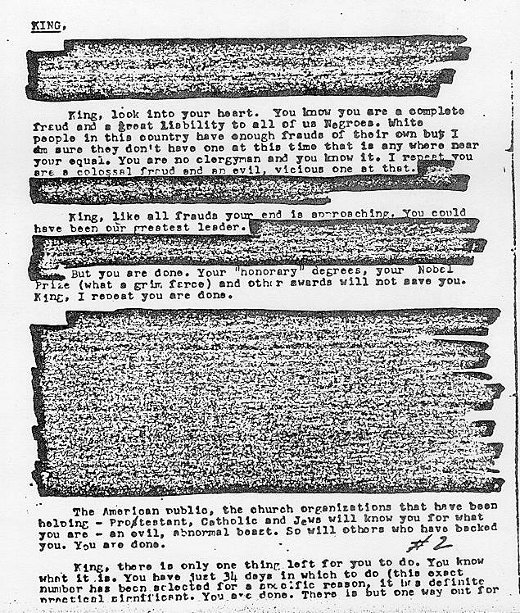FBI Letter to Martin Luther King ''Commit Suicide.'