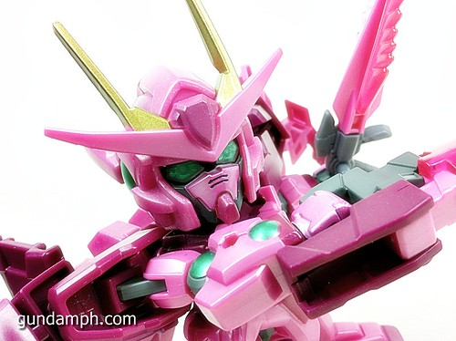 SD Gundam Online Capsule Fighter Trans Am 00 Raiser Rare Color Version Toy Figure Unboxing Review (56)