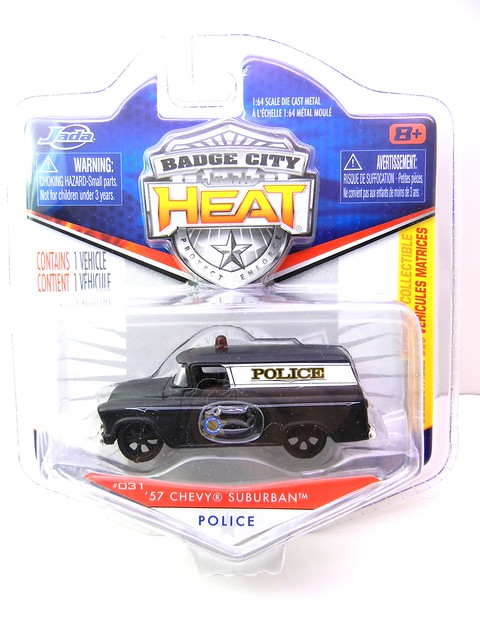 JADA BADGE CITY HEAT 1957 CHEVY SUBURBAN SHERIFF FLAT BLACK (1)