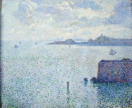 Theo Van Rysselberghe Sailing Boats in an Estuary, circa 1887