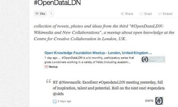 OpenDataLDN Storify