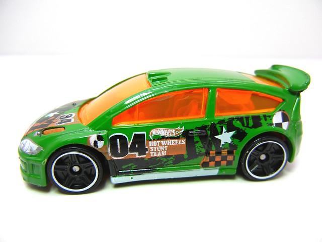 hot wheels citroen c4 rally green (2)