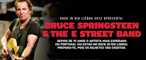Bruce Springsteen en Rock in Rio Lisboa 2012