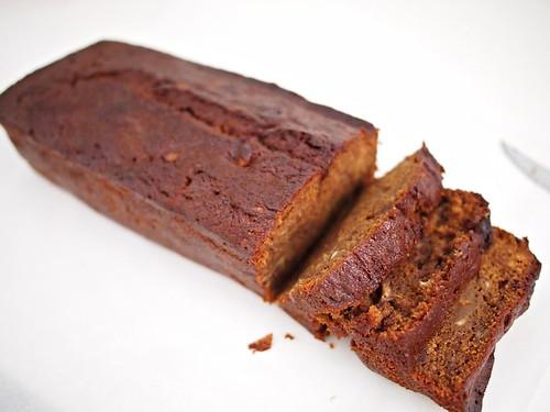 Banana Cocoa Yoghurt Loaf Cake