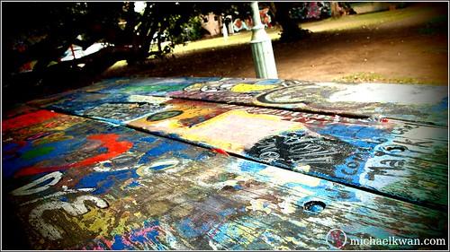 Graffiti Picnic Table
