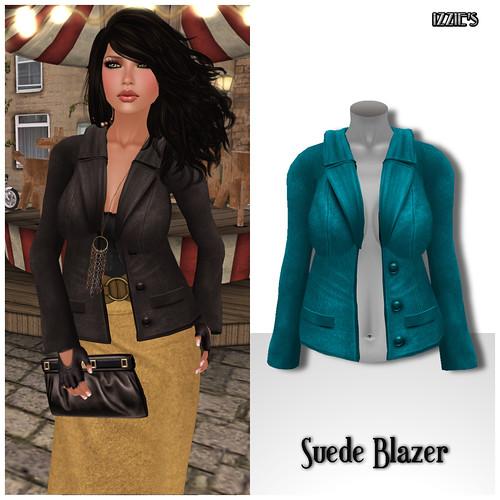 Izzie's - Suede Blazer cyan (TOSL)
