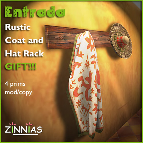 promo Zinnias Gift Rustic Coat and Hat Rack