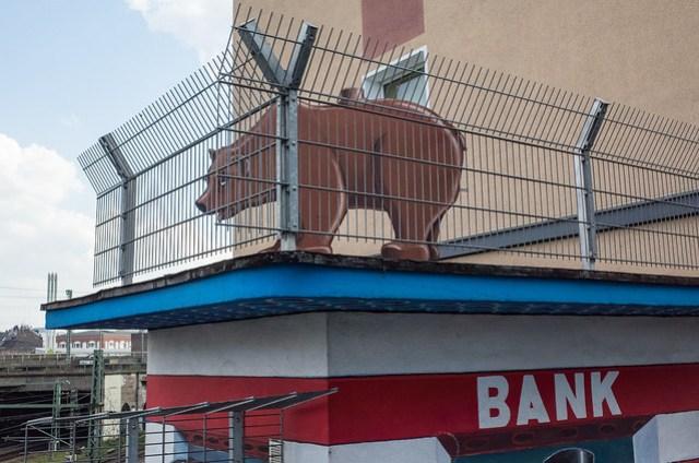 Der Bär auf der Bank