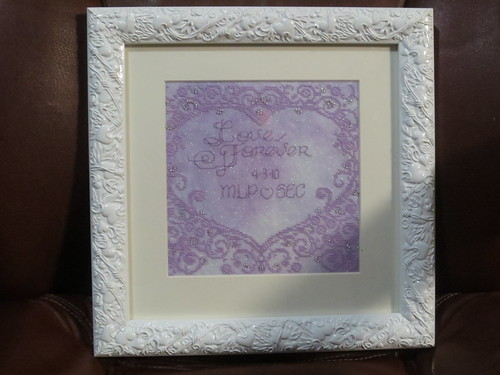 Framed & Gifted: Lace Heart Wedding Sampler