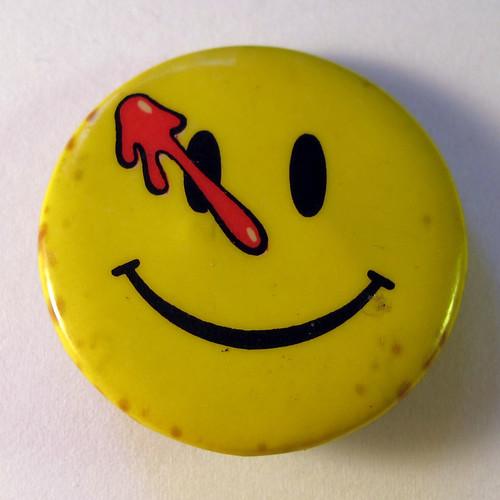 DC Comics Watchmen smiley badge