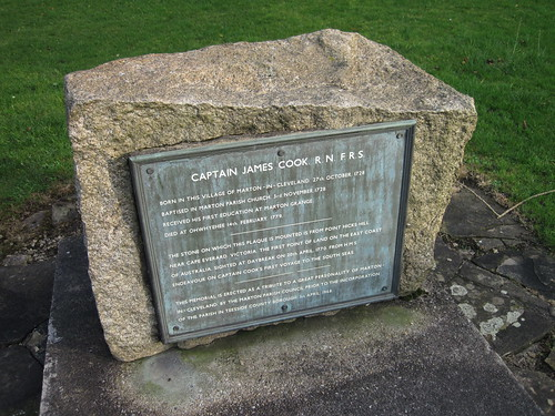 Captain Cook Plaque, Marton