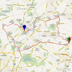14. Bike Route Map. Cranbury NJ