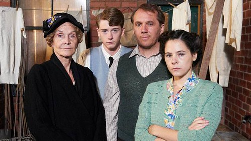 Sheila Hancock, Josh Bolt, Dean Andrews and Elaine Cassidy in Just Henry, ITV
