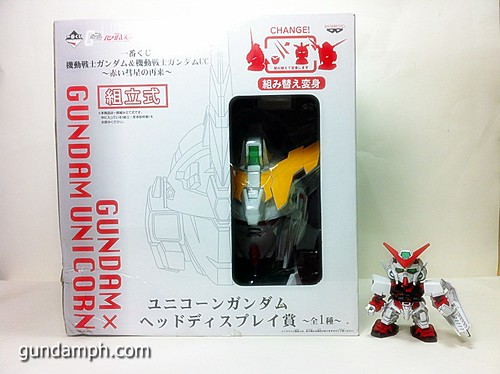 Banpresto Gundam Unicorn Head Display  Unboxing  Review (1)