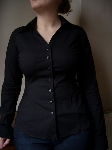 Biubiu Vanity Fair Black Shirt