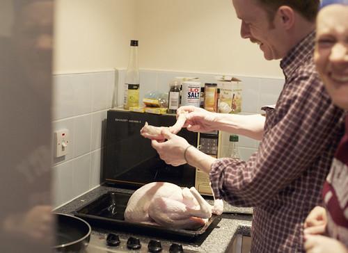christmas dinner preparations