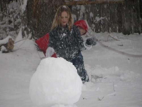 Maybe it's a snowwoman?