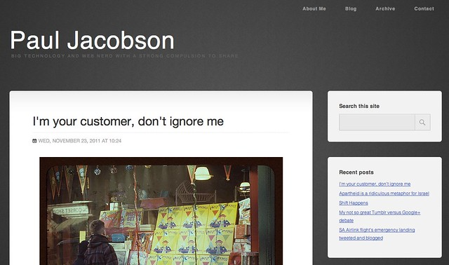 Paul Jacobson's Hub - Chrome screenshot