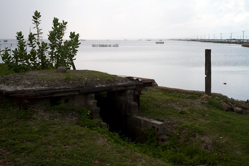 A bunker at the entrance to Mannar Fort