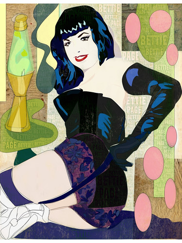 Bettie Page And Lava Lamp