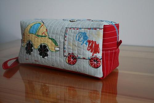 Boxy pouch
