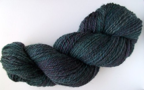 Midnight BFL Handspun Yarn