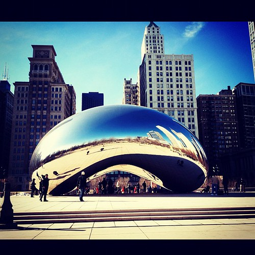 Photo Challenge Day 3: Clouds- Cloud Gate #febphotochallenge #febphotoaday #photochallenge #chicago #clouds
