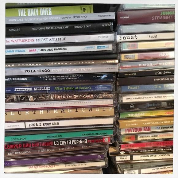 Overstuffed CD shelf