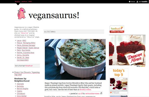 Vegansaurus Feature