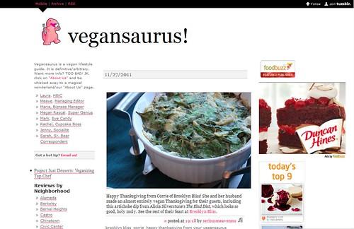 Vegansaurus Feature