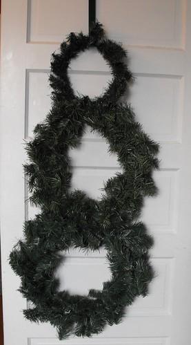 Snowman wreath 3