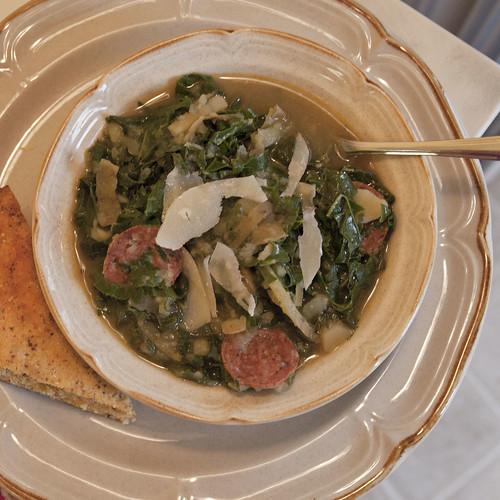 Kale and Potato Soup with Chorizo (Caldo Verde)