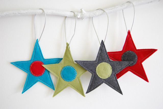 DIY star ornaments