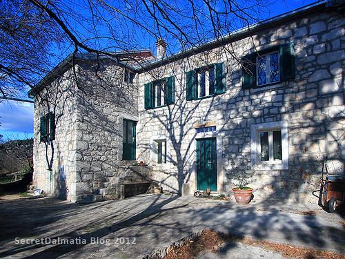 Winter sun casting shadows on Domagoj's house