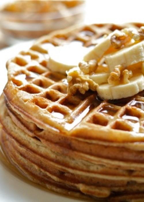 Whole Wheat Banana Bread Waffles Final 3