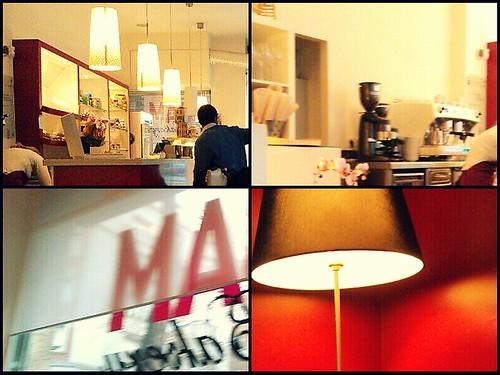 Four pics of a cafe