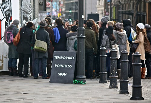 Temporary Pointless Sign - Mobstr