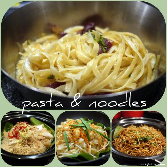 noodles collage