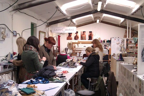 Unit Twelve fabric manipulation workshop