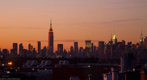 Manhattan Sunset (from Brooklyn)