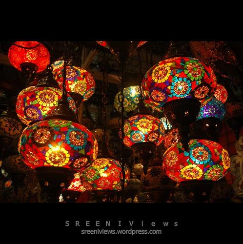 Brilliantly Radiant : Turkish lamp shades
