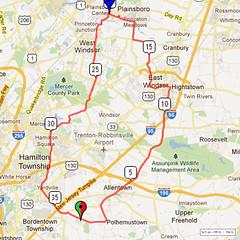 02. Bike Route Map. Hamilton Area YMCA, Crosswicks, NJ