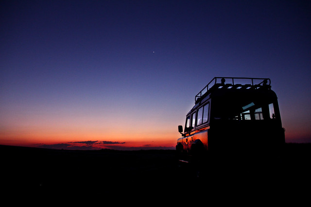 Land Rover at Sunset