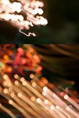 a firework of christmas lights