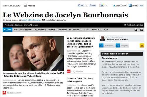 """""""Le Webzine de Jocelyn Bourbonnais"""""""