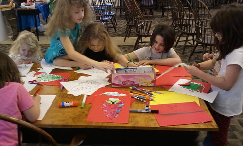 Coloring pine pictures