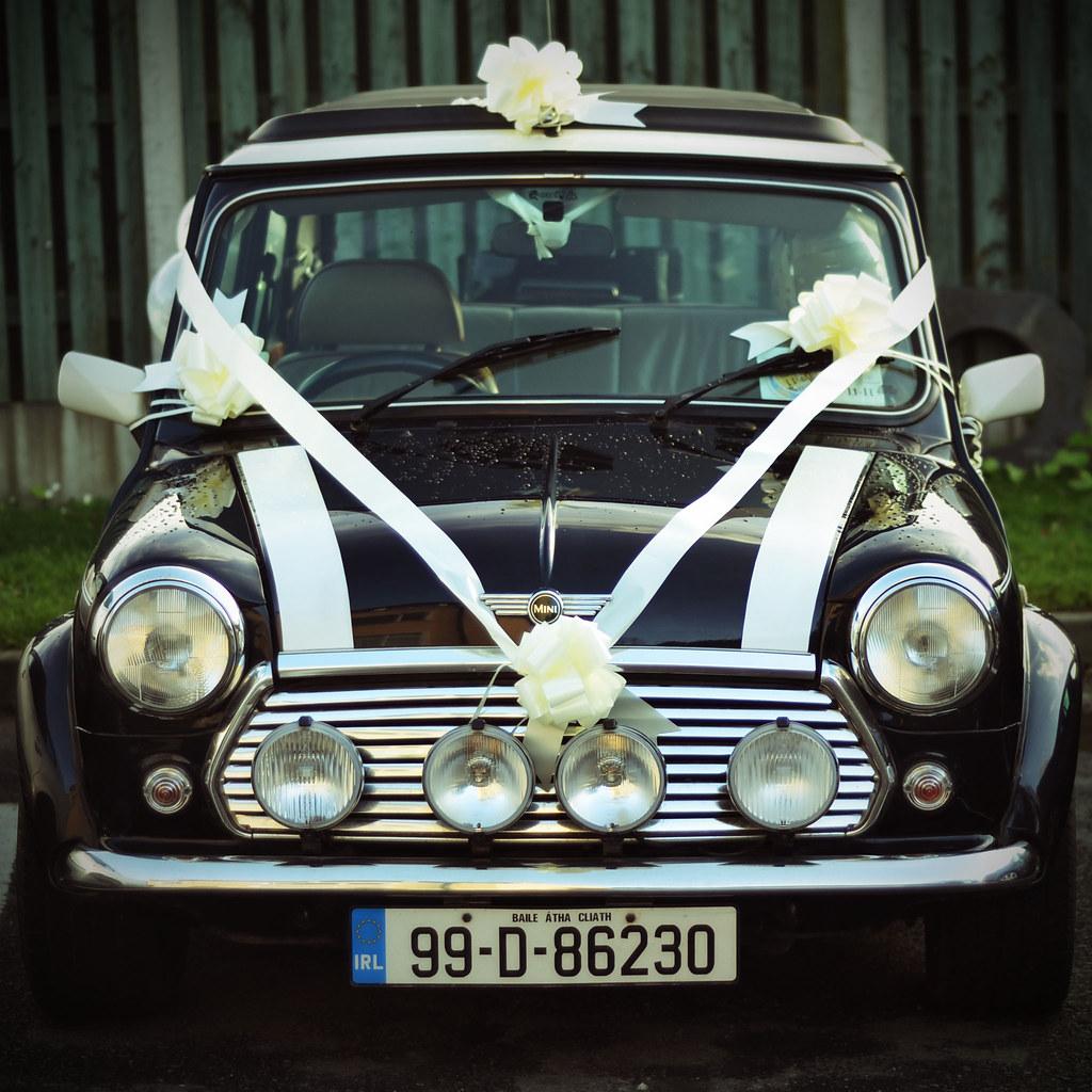 Mini wedding car
