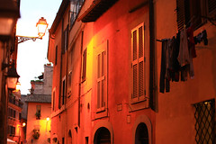 evening light, Trastevere, Roma