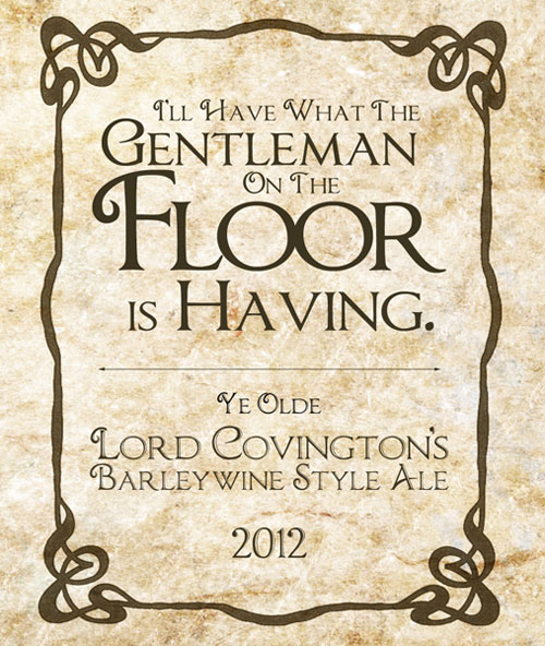 I'll have what the gentleman on the floor is having