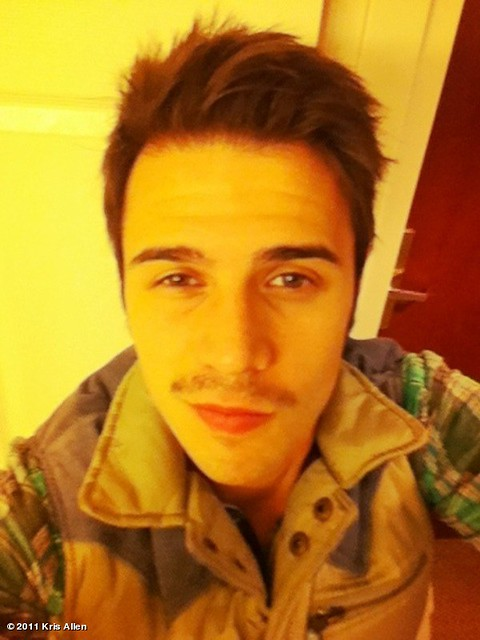 Kris Allen stache mustache krisstache photo